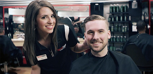 Sport Clips Haircuts of Uptown Boca stylist hair cut